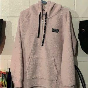 Sherpa 1/4 zip jacket, light pink color